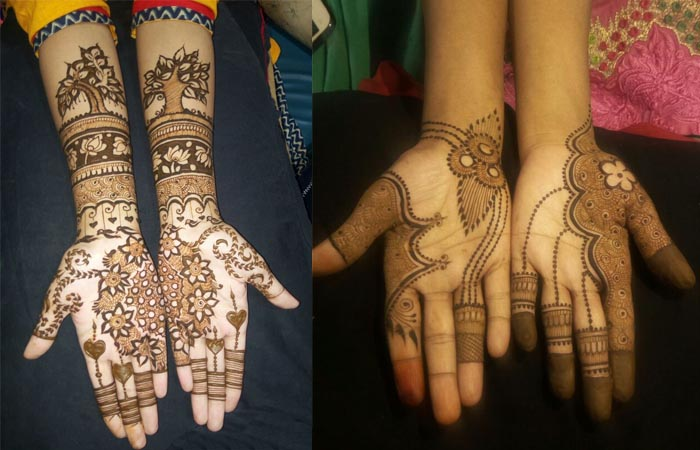 One Side Mehndi Designs