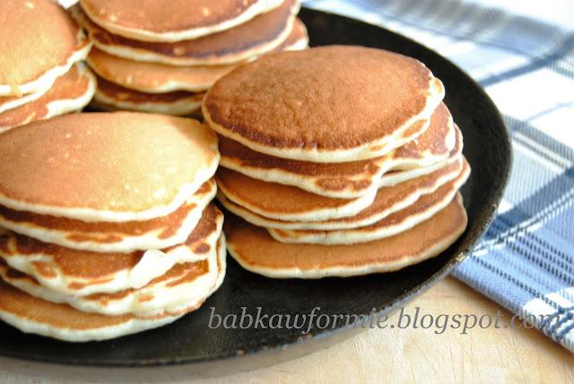 pancakes pankejki ciastka z patelni amerykańskie naleśniki babkawformie.blogspot.com