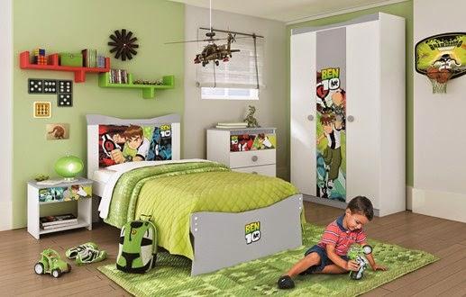 Coisa minha casa quartos infantis tem ticos for Ben 10 bedroom ideas