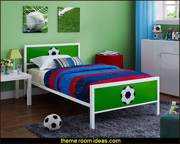 soccer bed soccer themed bedroom decorating ideas   Sports Bedroom decorating ideas -  Wrestling theme bedroom decorating - boxing theme bedrooms - martial arts - skateboarding theme bedrooms  - football - baseball - basketball theme bedrooms - basketball bedding - golf theme bedrooms - hockey bedding - theme beds sports
