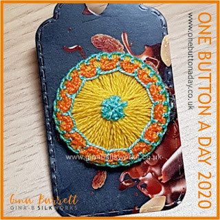 One Button a Day 2020 by Gina Barrett - Day 94 : Free Spirit