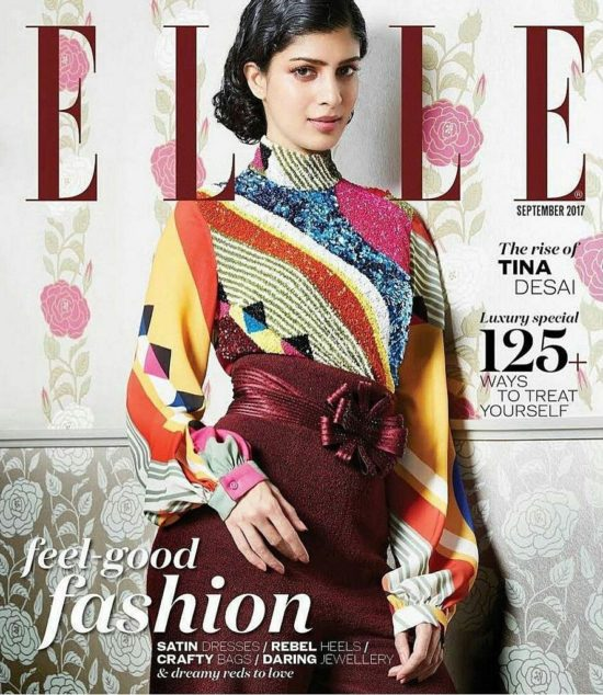 Tina Desai on The Cover of Elle Magazine India September 2017