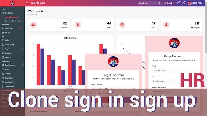HR System Management Admin Dashboard | Clone Full Code Laravel 8