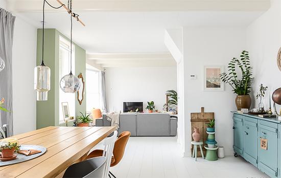 móvel rústico, decor, home decor, móvel colorido, a casa eh sua, acasaehsua, vasos de plantas, decoração, interior design, interior, mesa de jantar