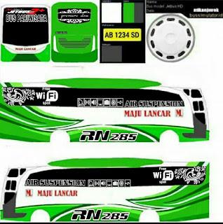 Download Livery Bus Maju Lancar