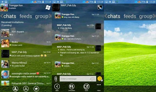 BBM MOD Windows Phone Transparan APK Terbaru