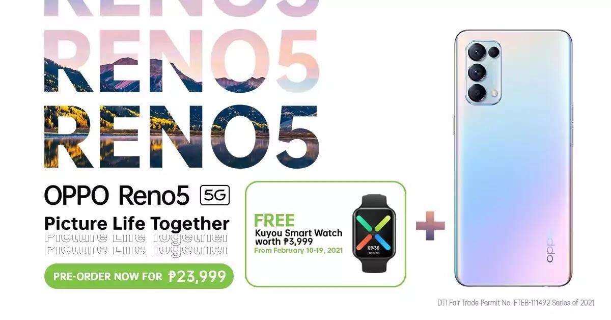 OPPO Reno5 5G Pre-order