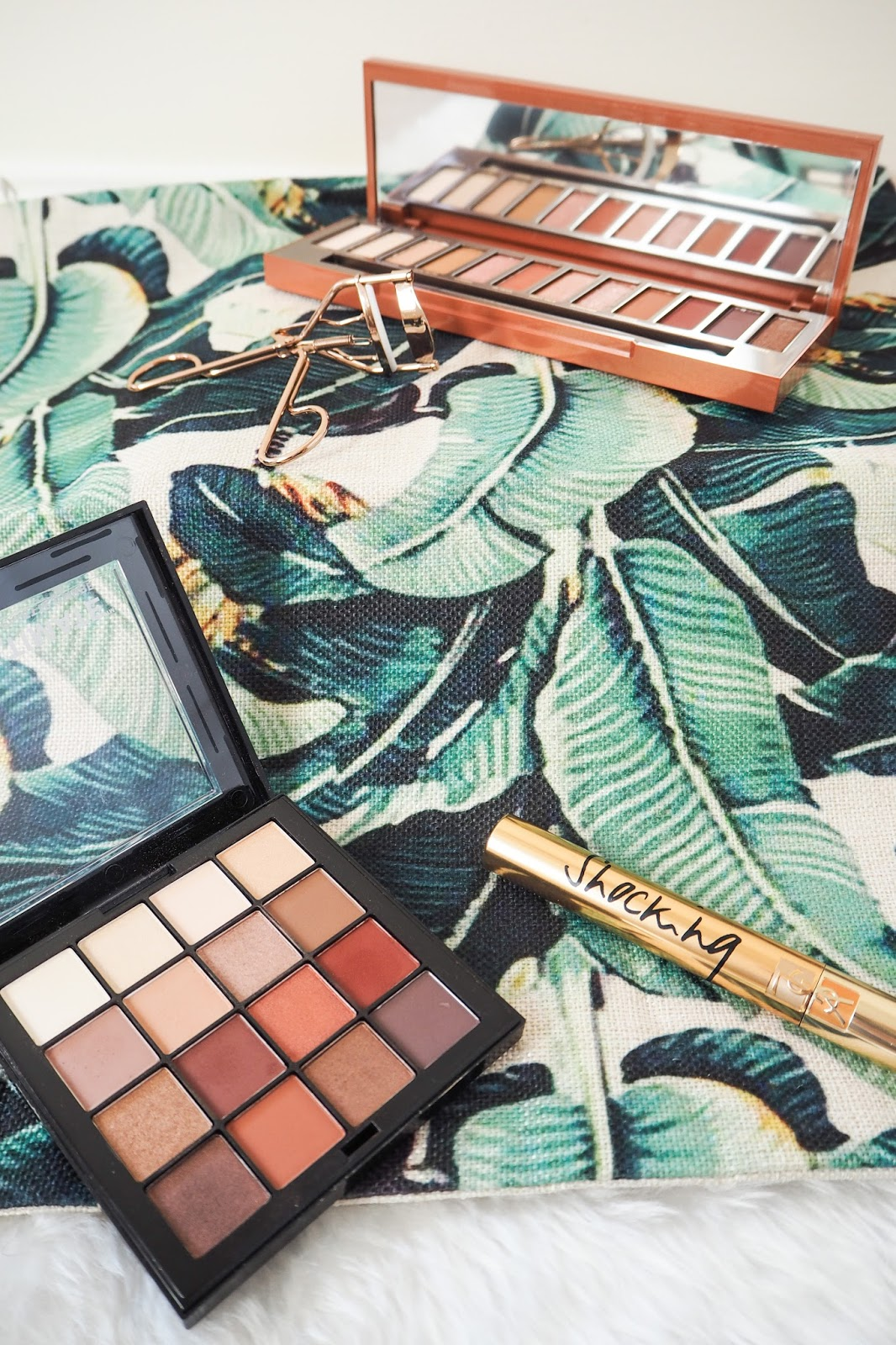 Warm neutral eyeshadow palettes from NYX and Urban Decay
