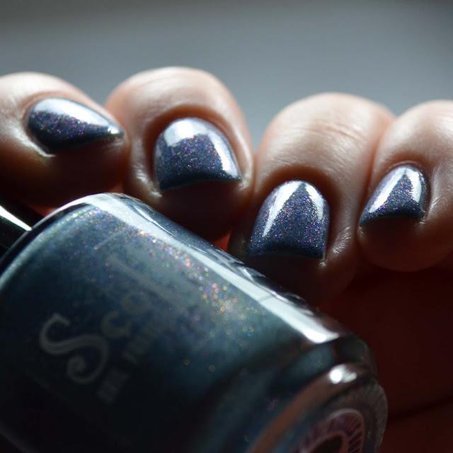 blue nail polish alternate angle