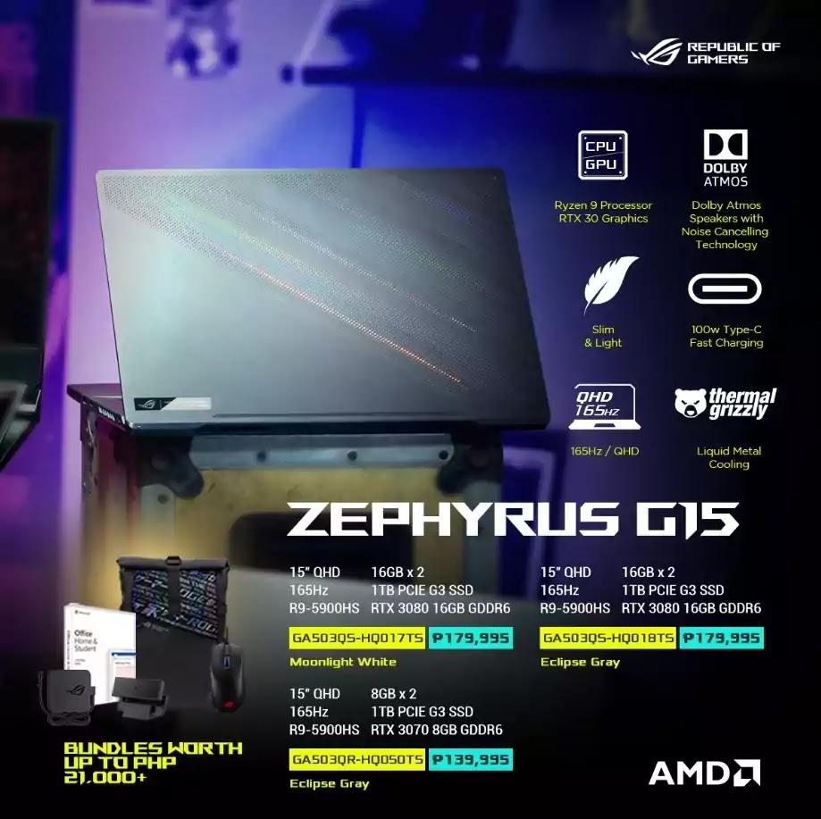 ROG Zephyrus G15 Price and Specs