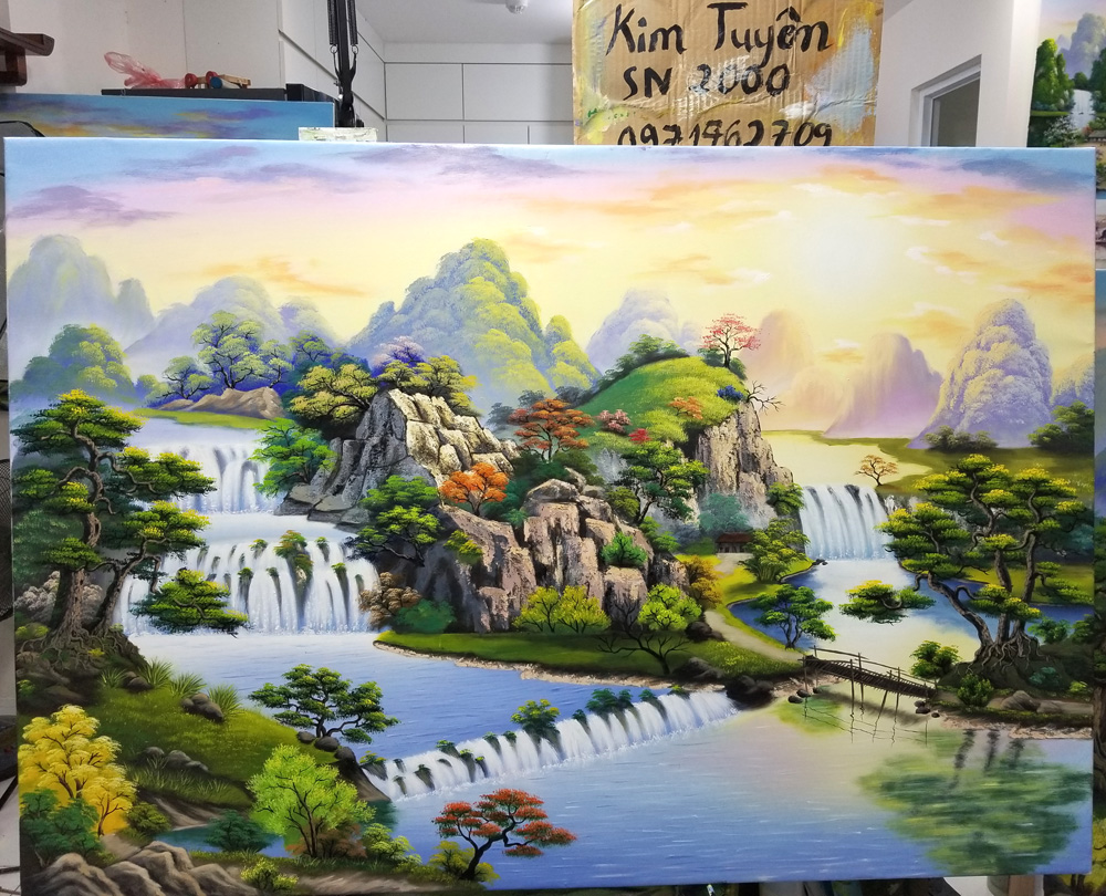 học vẽ tranh tường tại Mỹ Thuật Việt
