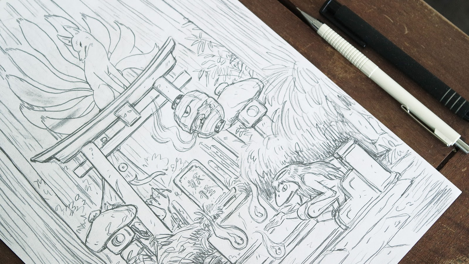 Illustration pencils