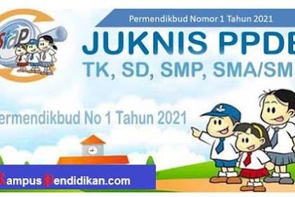 Permendikbud Nomor 1 Tahun 2021 tentang Penerimaan Peserta Didik Baru Jenjang TK, SD, SMP, SMA dan SMK