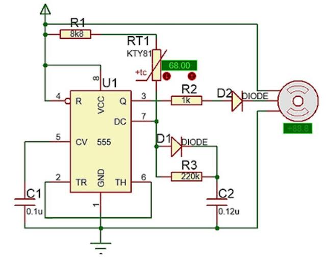 Implementasi sensor PTC
