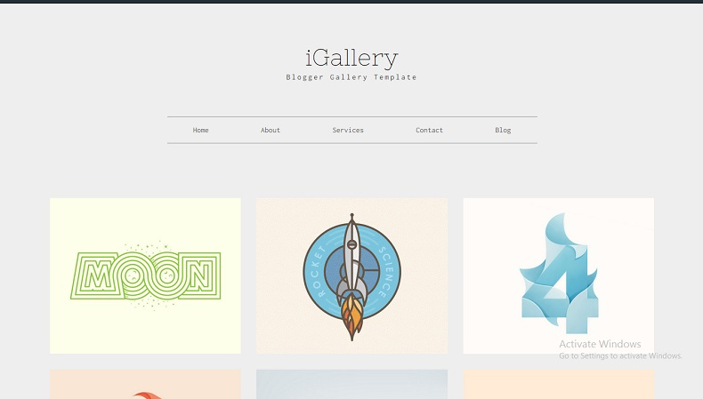 Download - iGallery - Responsive Portfolio Blogger Template