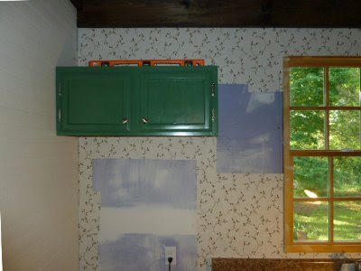 green over the fridge wall cabinet