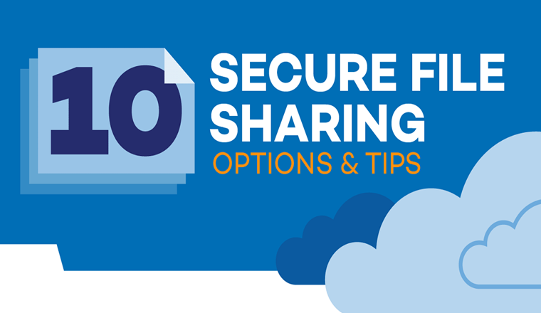 10 Secure File Sharing Options and Tips #infographic