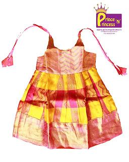 New Born Silk pattu pavadai langa girls kids