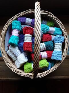 karklude strikket i bomuld