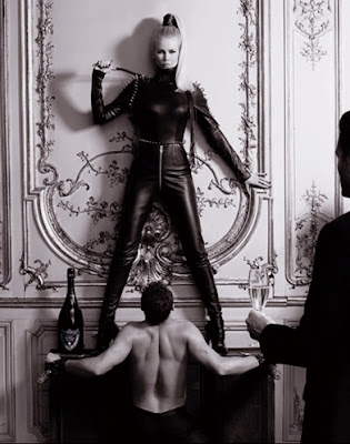 claudia schiffer karl lagerfeld dom perignon dominatrix mistress bdsm leather