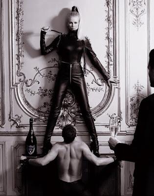 claudia schiffer karl lagerfeld dom perignon dominatrix mistress bdsm leather
