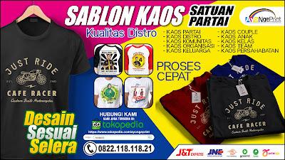 Sablon Kaos Satuan dan Partai politik