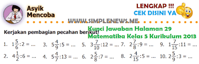 Kunci Jawaban Halaman 29 Matematika Kelas 5 Kurikulum 2013 www.simplenews.me