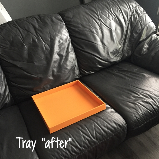 couch snack tray after painting