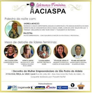 Encontro reúne Mulheres Empreendedoras em São Pedro