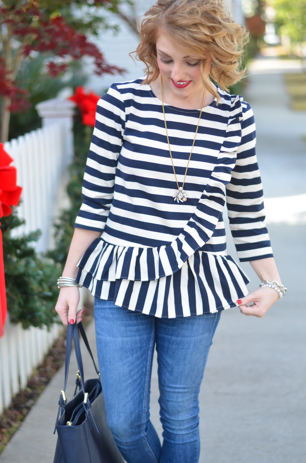 J.Crew ruffle peplum - Something Delightful Blog