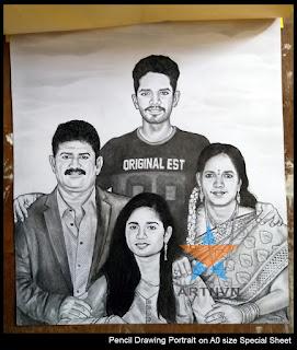 Pencil Sketch Drawing Portrait in Hyderabad | ARTNVN - Telangana INDIA