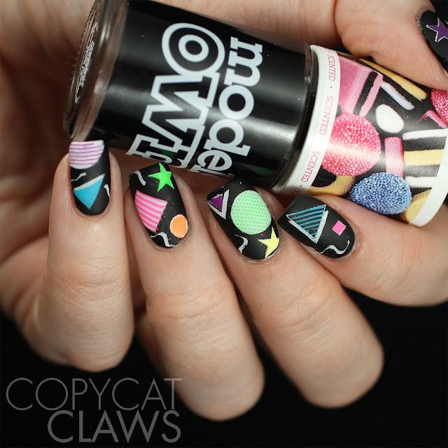 Neon Nail Stamping