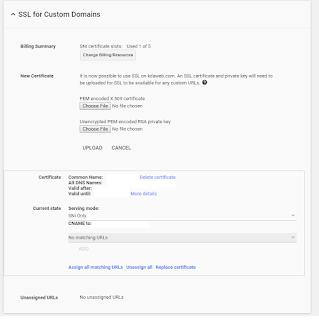 Uploading a TLS / SSL certificate to Google Apps
