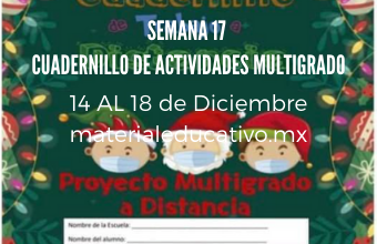 Cuadernillo De Actividades Multigrado Semana 17