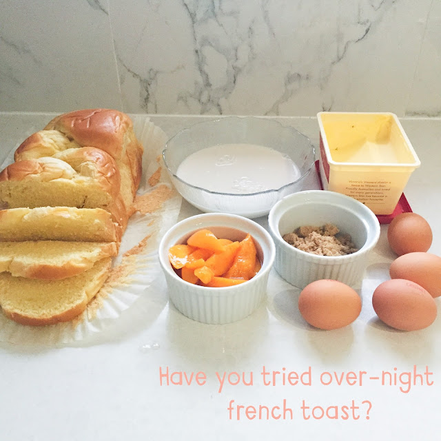 Peaches and cream overnight french toast by GoodFoodWeek