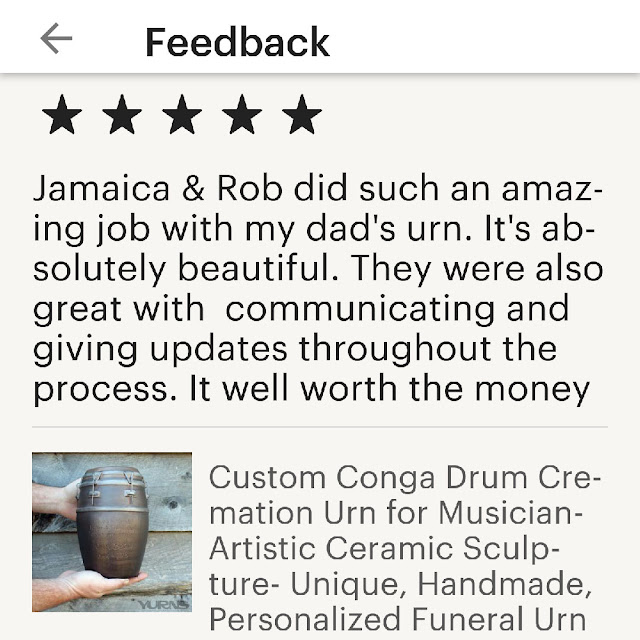 conga drum cremation urn review
