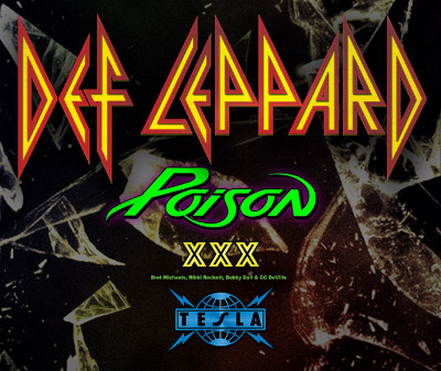 Def Leppard, Poison, and Tesla set date for Mohegan Sun Arena