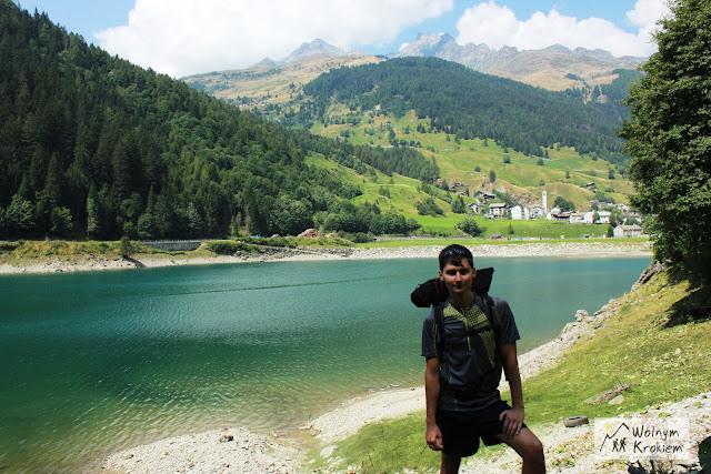Szlak Via Spluga Alpy włochy Lazurowe jezioro