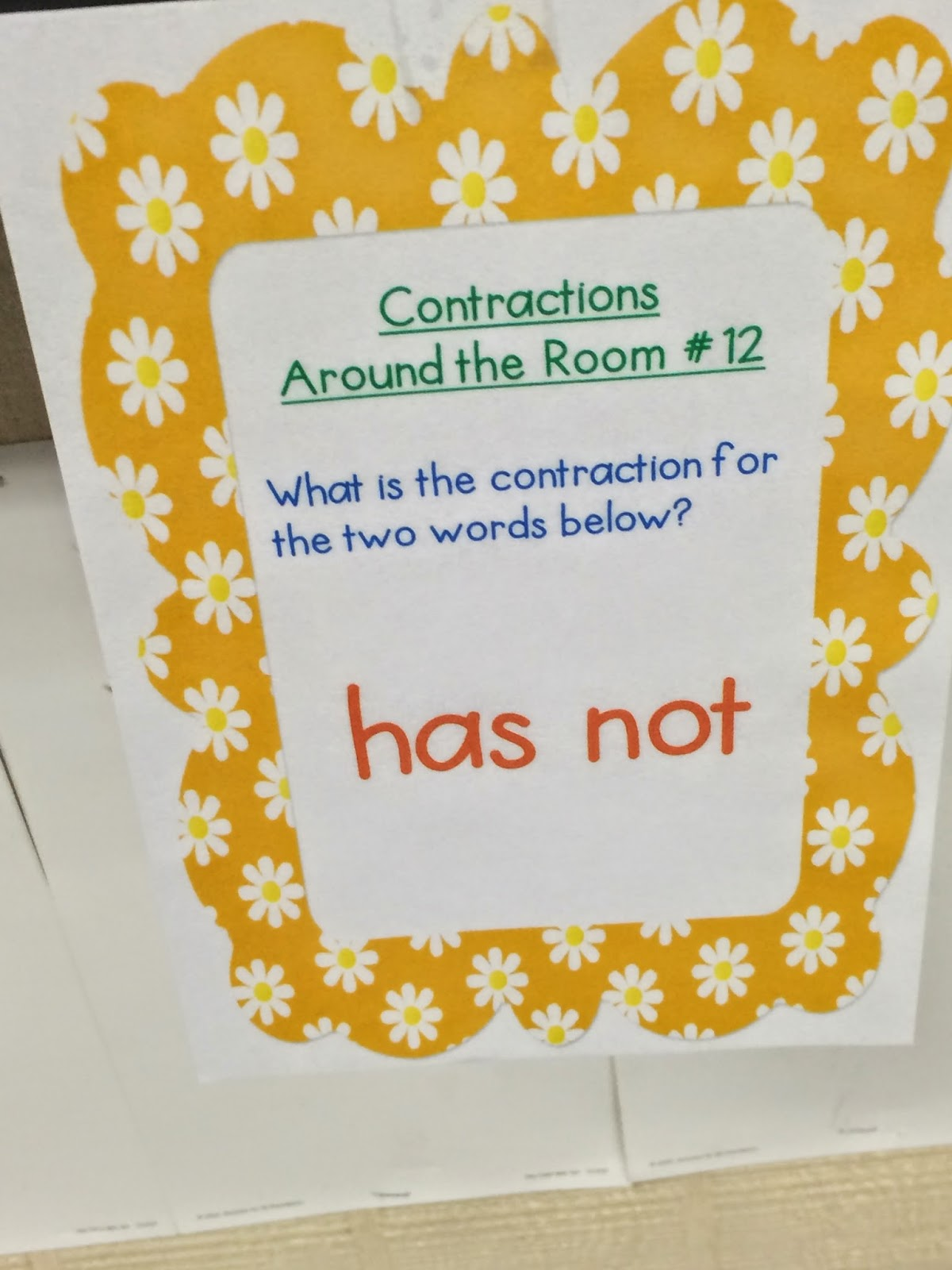 Team J S Second Grade Fun Contractions