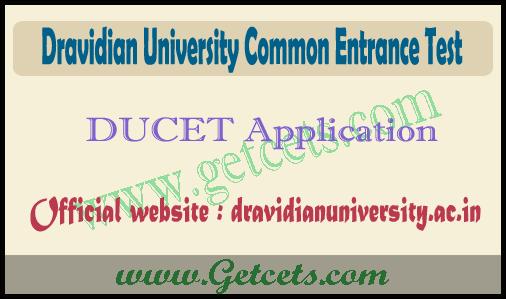 Dravidian university pgcet 2021 notification, DUCET apply online