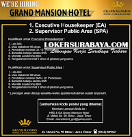Loker Blitar Jawa Timur di Grand Mansion Hotel Terbaru Desember 2019