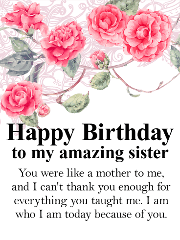 Happy Birthday To My Sweet Sister.