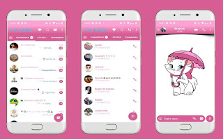 Cat White Theme For YOWhatsApp & Fouad WhatsApp By Leidiane