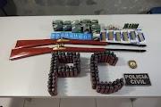 Polícia Civil prende homem que comercializava armas e munições em Lago dos Rodrigues