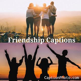 Friendship caption