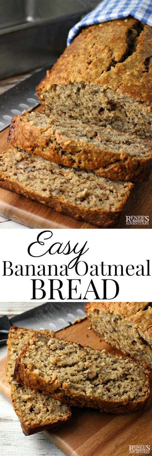 Easy banana oatmeal bread renees kitchen adventures dont forget to pin easy banana oatmeal bread to your pinterest boards forumfinder