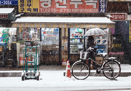 Snowing days in Seoul