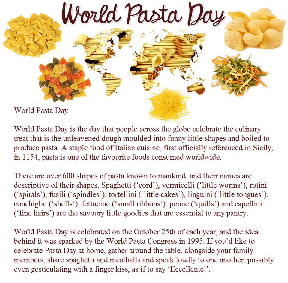 World Pasta Day Wishes Pics