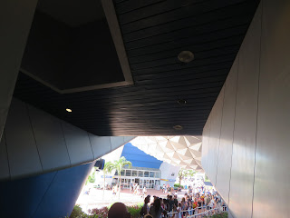 Beneath Spaceship Earth Epcot