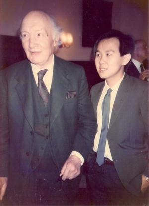 The writer with the legendary Lord Denning during his law student days in London. Denning quoted Fuller that 'Be you ever so high, the law is above you'.